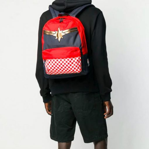 Captain Marvel Realm Backpack Racing Red 12