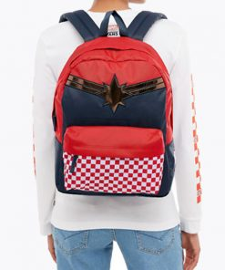 Captain Marvel Realm Backpack Racing Red 13