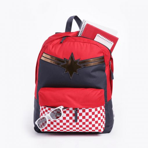 Captain Marvel Realm Backpack Racing Red 5