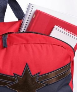 Captain Marvel Realm Backpack Racing Red 6