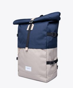 Bernt Backpack Multi Beige Navy 8