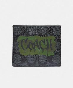 3 In 1 Wallet In Signature Canvas With Graffiti 1