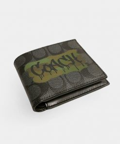 3 In 1 Wallet In Signature Canvas With Graffiti 2