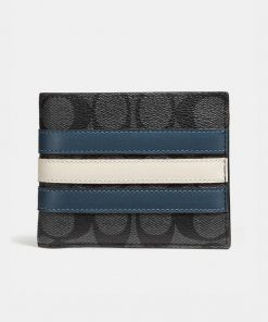 3 In 1 Wallet In Signature Canvas With Varsity Stripe 1 2